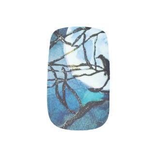Gothic ravens spooky night original art nail wraps