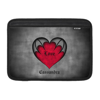 Gothic red heart Valentine's day Sleeves For MacBook Air