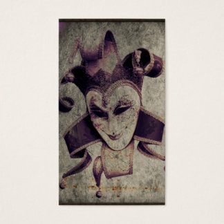 Gothic Renaissance Evil Clown Joker Business Card