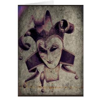 Gothic Renaissance Evil Clown Joker Card