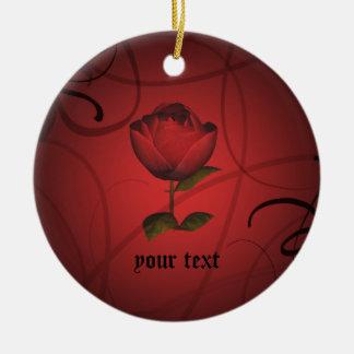 Gothic romance ceramic ornament