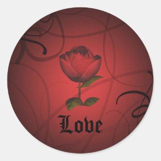 Gothic romance, Love Classic Round Sticker