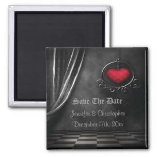 Gothic Romance Save The Date Wedding Magnet