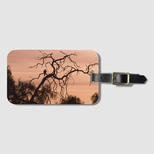 Gothic Romanticism Bird on a Winter Tree Bag Tag