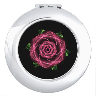 Gothic Rose Compact Mirror For Makeup