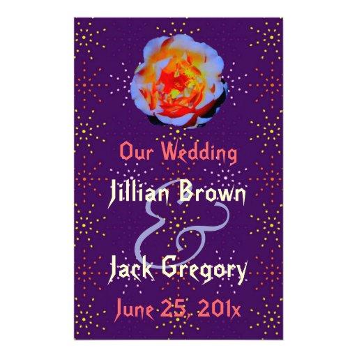 Gothic Rose Dotty Wedding Program flyer