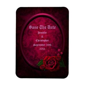 Gothic Rose Frame Save The Date Wedding Rectangular Photo Magnet