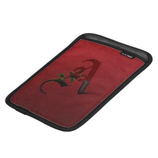 Gothic Rose Monogram A iPad Mini Sleeves