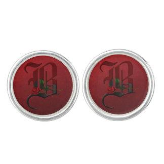 Gothic Rose Monogram B Cufflinks