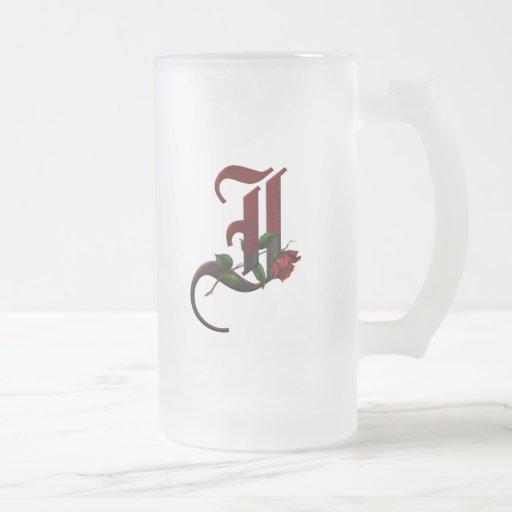 Gothic Rose Monogram I Mug