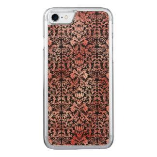 Gothic Rose Red Black Damask Carved iPhone 8/7 Case