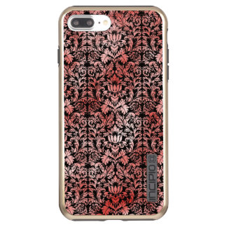 Gothic Rose Red Black Damask Incipio DualPro Shine iPhone 8 Plus/7 Plus Case