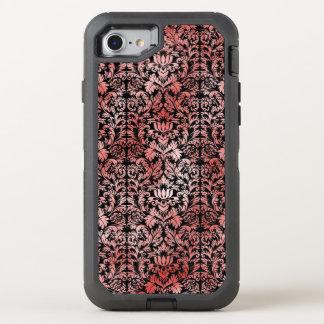 Gothic Rose Red Black Damask OtterBox Defender iPhone 7 Case