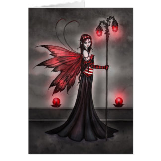 Gothic Ruby Fairy Fantasy Art Card