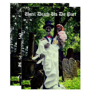 Gothic Skeleton Bride and Groom Card