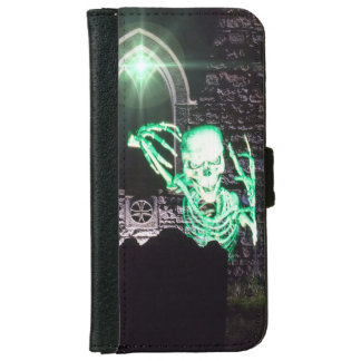 Gothic skeleton iPhone 6 wallet case