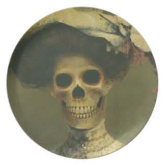 Gothic Skeleton Lady Plate