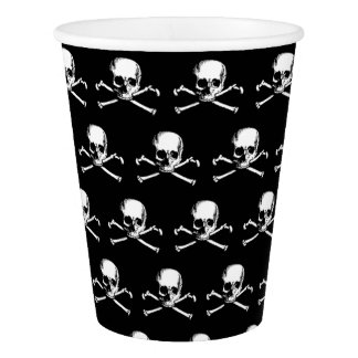 Gothic Skull And Crossbones Pattern Paper Cup