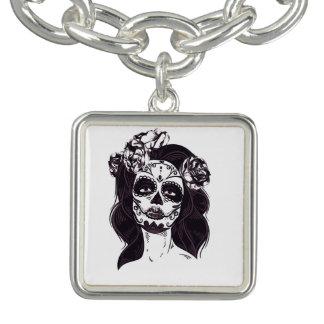 Gothic Skull Charm Bracelet