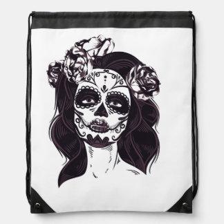 Gothic Skull Drawstring Bag