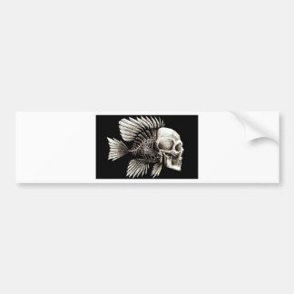 GOTHIC SKULL FISH BUMPER STICKER