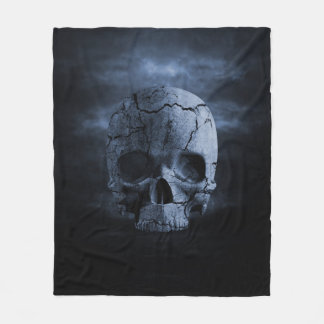 Gothic Skull Fleece Blanket