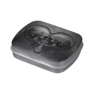 Gothic Skull Heart Candy Tin
