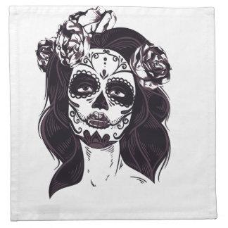 Gothic Skull Napkin