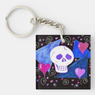Gothic Skull (Original Version) by EelKat Keychain