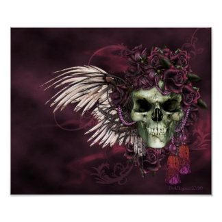 Gothic Skull-Roses of the dead. Poster