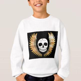 Gothic Skull & Wings Sweatshirt