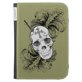Gothic Skulls and Baroque Kindle Case