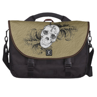 Gothic Skulls and Baroque Laptop Bag