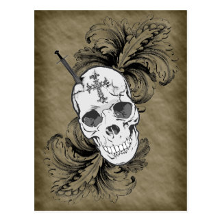 Gothic Skulls and Baroque Post Card