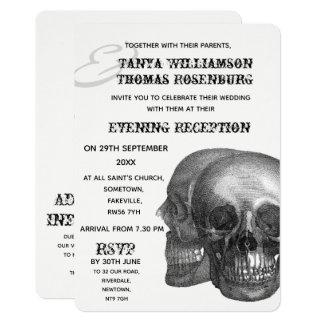 Gothic Skulls Evening Invitation