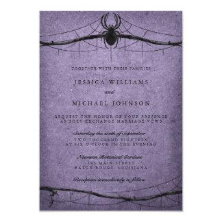 Gothic Spider Halloween Wedding Card