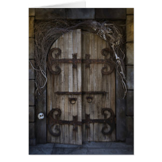 Gothic Spooky Door Note Card