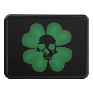 Gothic St Patricks Day spooky shamrock Hitch Covers