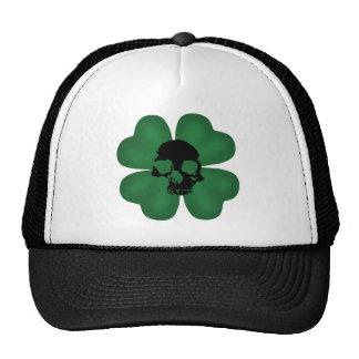 Gothic St Patricks Day spooky shamrock Trucker Hat