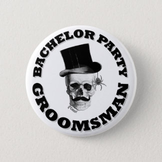 Gothic steampunk bachelor party 2 inch round button