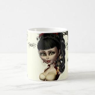Gothic Steampunk Lolita Art Round Button Pin Coffee Mug