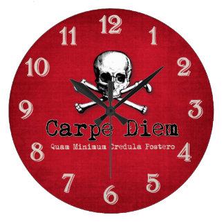 Gothic Style Carpe Diem Wall Clock
