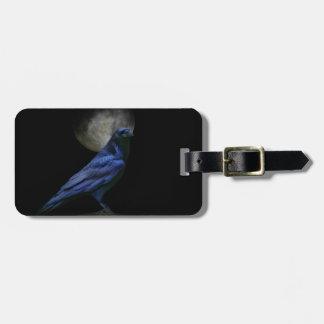 Gothic Style Raven Custom Luggage Tag