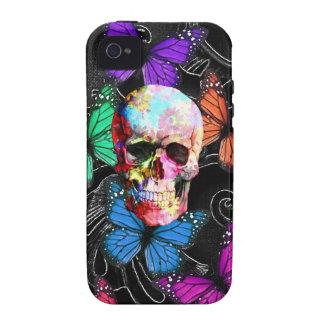 Gothic sugar skull & butterflies Case-Mate iPhone 4 case