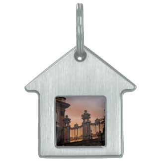 Gothic Sunset in Budapest Pet ID Tags