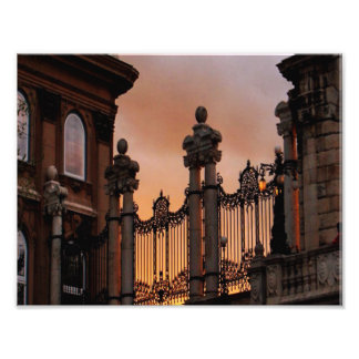 Gothic Sunset in Budapest Photographic Print