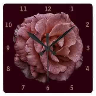 Gothic Surreal Rose Clock