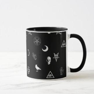 Gothic Symbols Pattern Mug