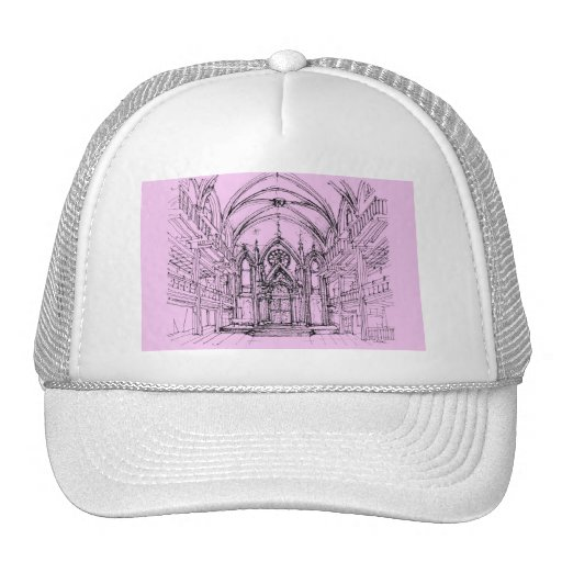 Gothic synagogue in NYC Mesh Hats