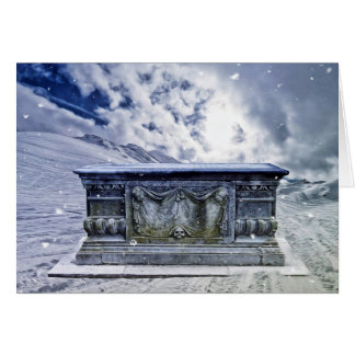 Gothic tomb greeting card
